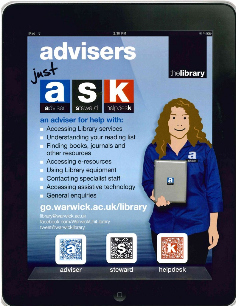 Final advertising material for Just ASK