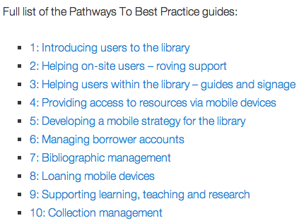 Pathways To Best Practice guides